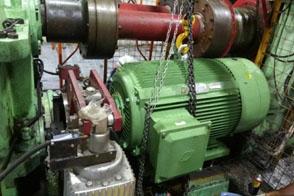 开炼机110KW电机更换